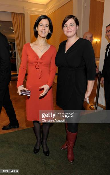 Katja Suding and Katharina Fegebang attend New Years`s reception of Hamburger Abendblatt at Hotel Atlantic on January 7 2013 in Hamburg Germany