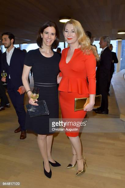 Katja Suding and Sandra Quadflieg attend the Nannen Award 2018 at Elbphilharmonie on April 11 2018 in Hamburg Germany