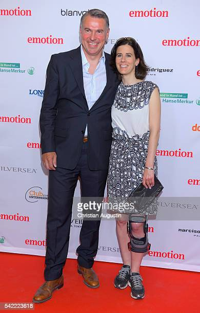 Katja Suding and Udo Riglewski attend the Emotion Award at Laeiszhalle on June 22 2016 in Hamburg Germany