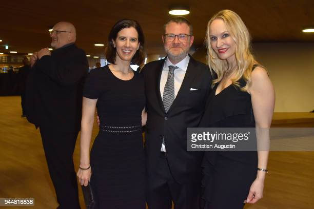 Katja Suding Jury member and Editorinchief of Stern Christian Krug and Editorinchief GALA Anne MeyerMinnemann attend the Nannen Award 2018 at...