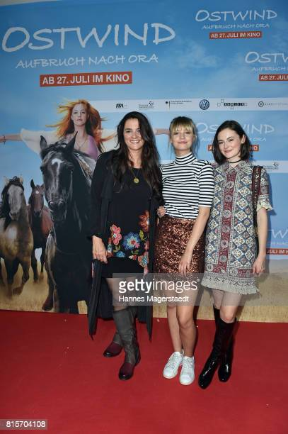 Katja von Garnier Hanna Binke and Lea van Acken during the 'Ostwind Aufbruch nach Ora' premiere n Munich at Mathaeser Filmpalast on July 16 2017 in...