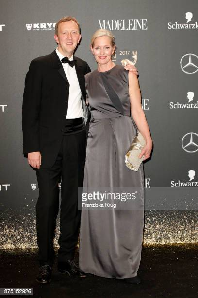 Katja Weitzenboeck and guest arrive at the Bambi Awards 2017 at Stage Theater on November 16 2017 in Berlin Germany