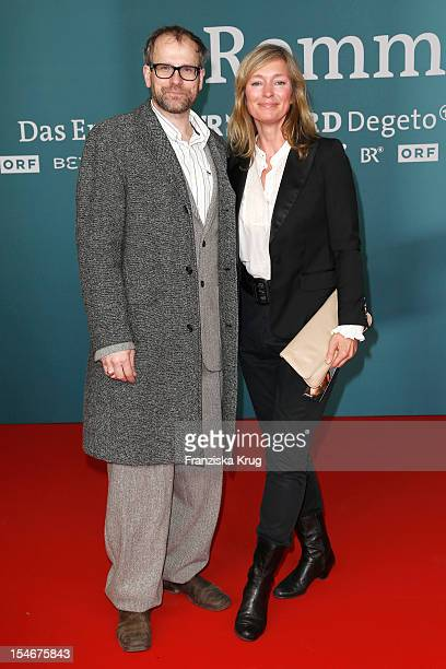 Katja Weitzenboeck and guest attend the 'Rommel' TV Film Premiere at the Delphi Filmpalast on October 24 2012 in Berlin Germany
