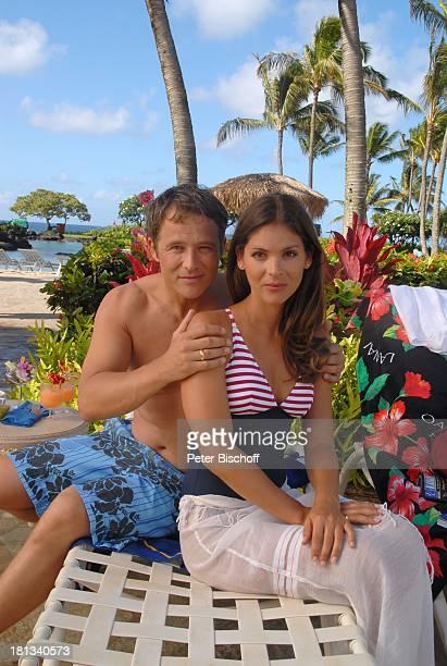 Katja Woywood Andreas Brucker Dreharbeiten zur ZDFReihe Kreuzfahrt ins Glück Folge 3 Hochzeitsreise nach Hawaii Grand HyattHotel Kauai Hawaiian...