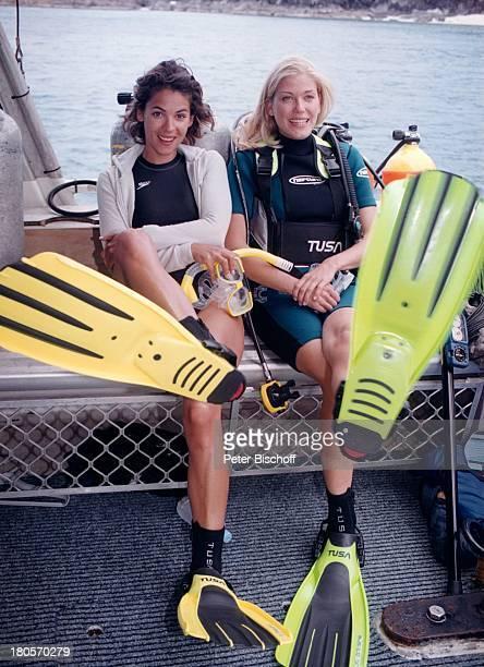 Katja Woywood Cecilia Myra Kunz ZDFReihe Traumschiff Folge 37 Sydney OlympiaSpecial Australien Taucheranzug Meer Taucherbrille Schauspielerin Promi