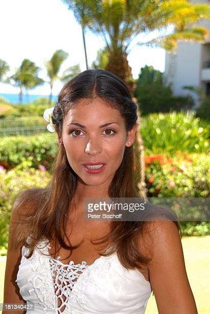 Katja Woywood Dreharbeiten zur ZDFReihe Kreuzfahrt ins Glück Folge 3 Hochzeitsreise nach Hawaii Grand HyattHotel Kauai Hawaiian Island Insel...