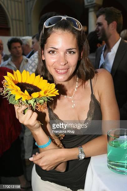 Katja Woywood In When receiving Bavaria Munich Film Festival In The Park Munich Bavaria Film