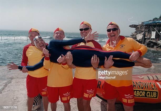 Katja Woywood StatistenZDFReihe Traumschiff Folge 37 Sydney OlympiaSpecial Australien Schwimmanzug BadekappeChlorbrille Meer Sonnenbrille...