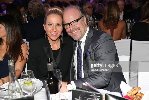 Katja Wunderlich and Peter Olsson during the Audi Generation Award 2015 at Hotel Bayerischer Hof on December 2 2015 in Munich Germany