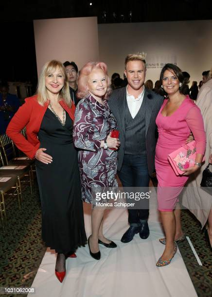 Katlean de Monchy Jane Pontarelli Andrew Werner and Nicole DiCocco attend the Dennis Basso fashion show during New York Fashion Week at Cipriani 42nd...
