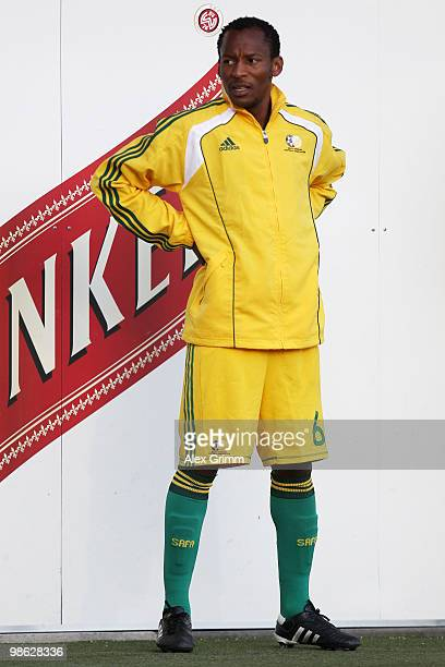 Katlego Mashego of South Africa warms up during the international friendly match between South Africa and North Korea at the Brita arena on April 22...