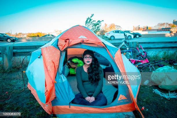 Katline Wilson is among the more than 200 people who live at the large encampment along Hiawatha and Cedar Avenues in Minneapolis Minnesota on...