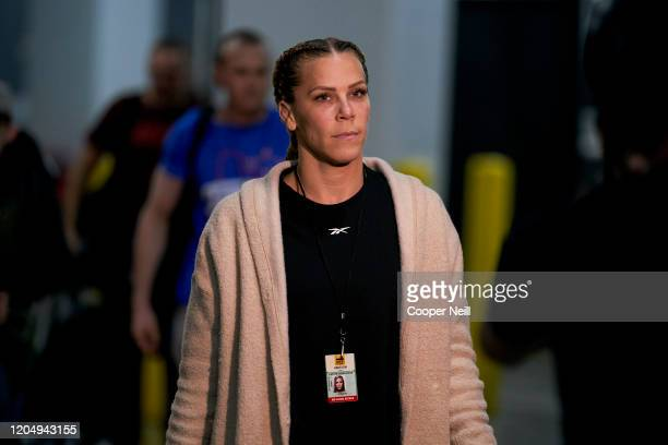 Katlyn Chookagian arrives backstage during the UFC 247 event at Toyota Center on February 08 2020 in Houston Texas