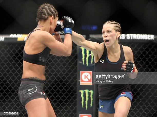 Katlyn Chookagian of the United States fights against Jessica Eye of the United States in a flyweight bout during the UFC 231 event at Scotiabank...