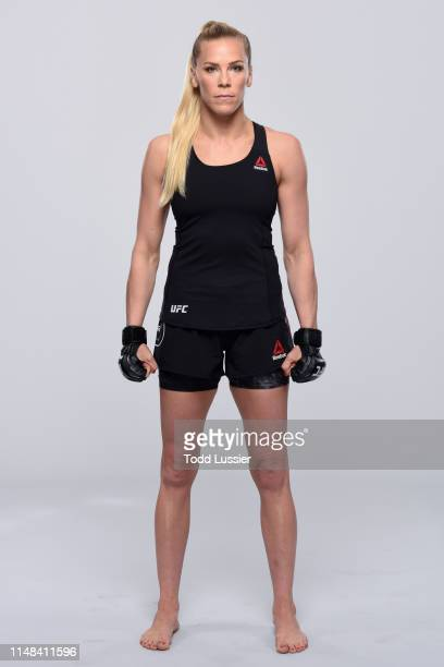 Katlyn Chookagian poses for a portrait during a UFC photo session on June 5 2019 in Chicago Illinois
