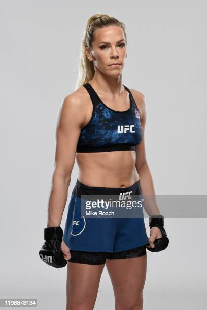 Katlyn Chookagian poses for a portrait during a UFC photo session on February 5 2020 in Houston Texas