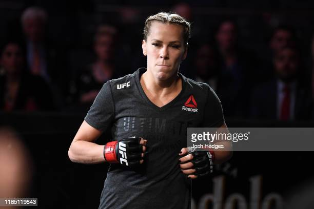 Katlyn Chookagian prepares to enter the Octagon prior to her women's flyweight bout during the UFC 244 event at Madison Square Garden on November 02...