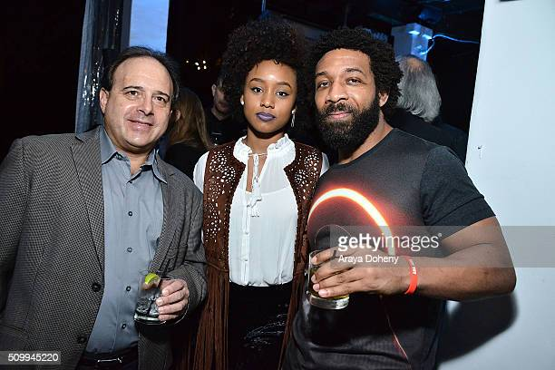 Katlyn Nichol and Jesse Rankins attend the Reservoir 2016 Grammy Week Cocktail Party at Sunset Marquis Hotel & Villas on February 12, 2016 in West...