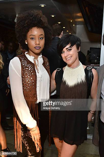 Katlyn Nichol and Lauren Dyson attend the Reservoir 2016 Grammy Week Cocktail Party at Sunset Marquis Hotel & Villas on February 12, 2016 in West...
