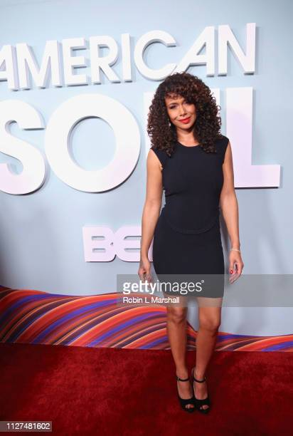Katlyn Nichol attends BET's 'American Soul' Red Carpet at Wolf Theatre on February 04 2019 in North Hollywood California