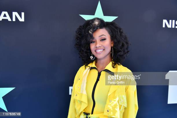 Katlyn Nichol attends the 2019 BET Awards at Microsoft Theater on June 23 2019 in Los Angeles California