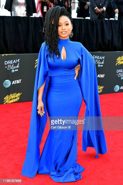Katlyn Nichol attends the 34th annual Stellar Gospel Music Awards at the Orleans Arena on March 29 2019 in Las Vegas Nevada