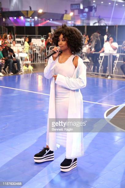 Katlyn Nichol performs at the BETX Celebrity Basketball Game Sponsored By Sprite during the BET Experience at Los Angeles Convention Center on June...
