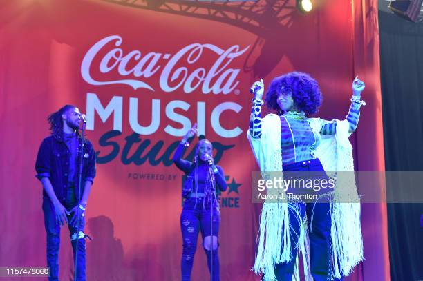 Katlyn Nichol performs onstage at the 2019 BET Experience CocaCola Music Stage at Los Angeles Convention Center on June 21 2019 in Los Angeles...