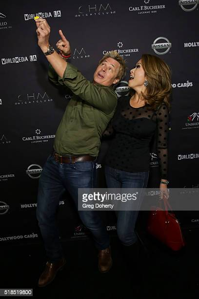 Kato Kaelin and TV Anchor Leyna Nguyen arrive at the 2nd Annual Hollywood Cares Poker Invitational with a shooting star logo from Sunshine kids ready...