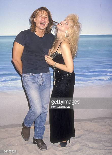Kato Kaelin and TV Personality Rhonda Shear pose for photo opportunity on the set of 'Up All Night' on November 17 1994 at The Production Group...