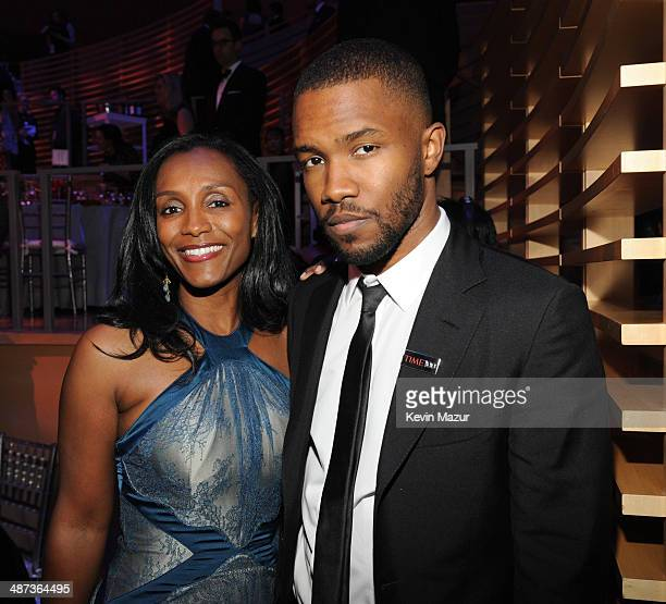 Katonya Breaux Riley and Frank Ocean attend the TIME 100 Gala TIME's 100 most influential people in the world at Jazz at Lincoln Center on April 29...