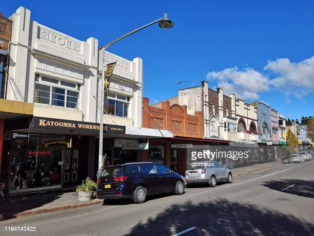 katoomba town, blue mountains, new south wales - katoomba stock pictures, royalty-free photos & images