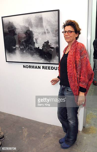 Katrien Van Der Schueren attends 'Hindsight Is 30/40 A Group Photographer Exhibition' at The Salon at Automatic Sweat on November 12 2016 in Los...