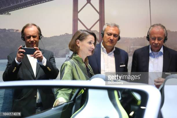 Katrin Adt chief executive officer of Daimler AG's Smart brand attends the Tomorrow in Motion event ahead of the Paris Motor Show in Paris France on...
