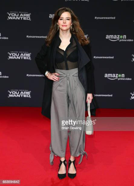 Katrin Bauerfeind arrives at Amazon Prime Video's premiere of the series 'You are Wanted' at CineStar on March 15 2017 in Berlin Germany