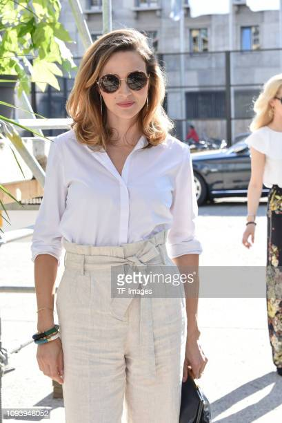 Katrin Bauerfeind attends the Guido Maria Kretschmer show during the Berlin Fashion Week Spring/Summer 2019 on July 2 2018 in Berlin Germany