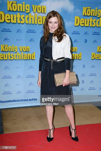 Katrin Bauerfeind attends the 'Koenig von Deutschland' Berlin premiere at Kino International on August 27 2013 in Berlin Germany