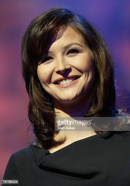 Katrin Bauerfeind speaks during the Award Ceremony as part of the 58th Berlinale Film Festival at the Berlinale Palast on February 16 2008 in Berlin...