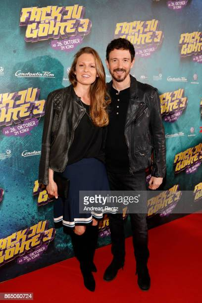 Katrin Berben and Oliver Berben attend the 'Fack ju Goehte 3' premiere at Mathaeser Filmpalast on October 22 2017 in Munich Germany