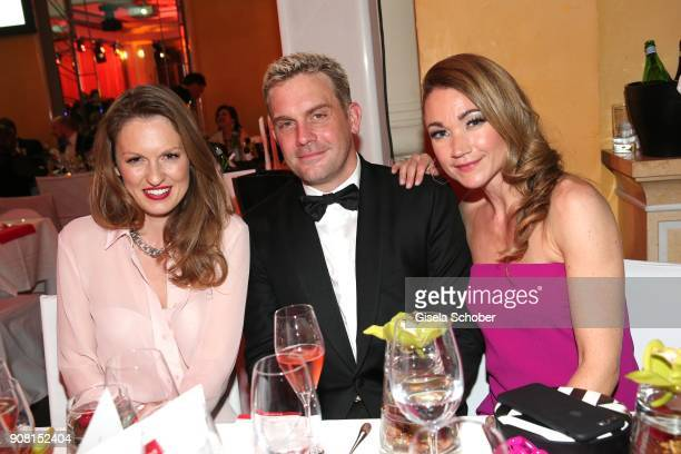Katrin Berben Sebastian Bezzel and Lisa Maria Potthoff during the German Film Ball 2018 party at Hotel Bayerischer Hof on January 20 2018 in Munich...