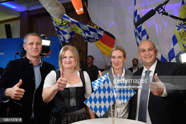 Katrin EbnerSteiner Deputy Chairman of the Bavarian rightwing Alternative for Germany political party Alice Weidel coBundestag faction leader of the...