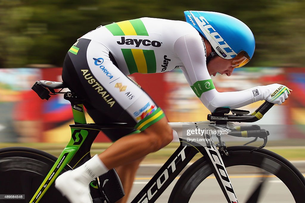 Katrin Garfoot of Australia in action during the Women's Elite Individual Time Trial on day three of the UCI Road World Championships on September 22, 2015 in Richmond, Virginia.