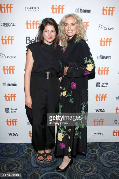 """Katrin Gebbe and Nina Hoss attend the """"Pelican Blood"""" photo call during the 2019 Toronto International Film Festival at Scotiabank Theatre on..."""