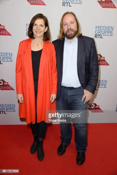 Katrin GoeringEckardt and Anton Hofreiter attend the 25 years anniversary ntv event at Bertelsmann Repraesentanz on November 28 2017 in Berlin Germany