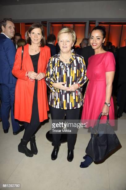 Katrin GoeringEckardt Renate Kuenast and Sawsan Chebli attend the 25 years anniversary ntv event at Bertelsmann Repraesentanz on November 28 2017 in...