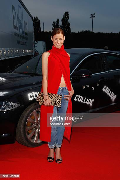 Katrin Hess arrives for the premiere of the film 'Collide' at DRIVE IN Kino on August 1 2016 in Cologne Germany