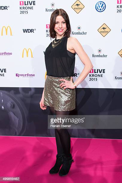 Katrin Hess attends the 1Live Krone 2015 at Jahrhunderthalle on December 3 2015 in Bochum Germany