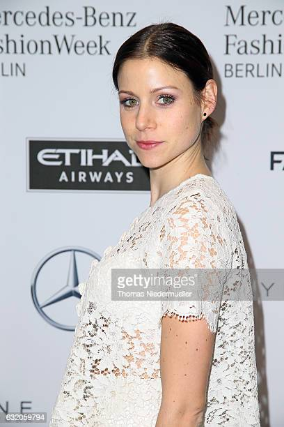 Katrin Hess attends the Ewa Herzog show during the MercedesBenz Fashion Week Berlin A/W 2017 at Kaufhaus Jandorf on January 19 2017 in Berlin Germany