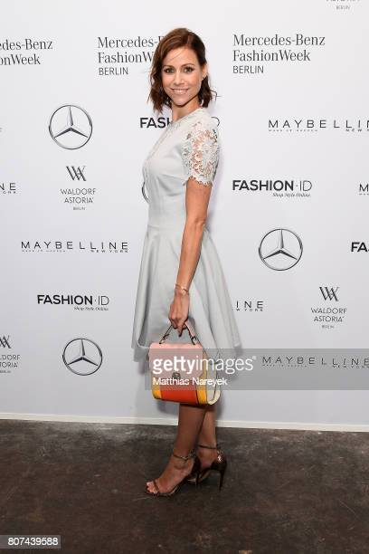 Katrin Hess attends the Ewa Herzog show during the MercedesBenz Fashion Week Berlin Spring/Summer 2018 at Kaufhaus Jandorf on July 4 2017 in Berlin...