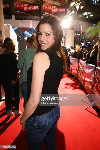 Katrin Hess attends the German premiere of the film 'Halbe Brueder' at Cinedome Mediapark on March 31 2015 in Cologne Germany